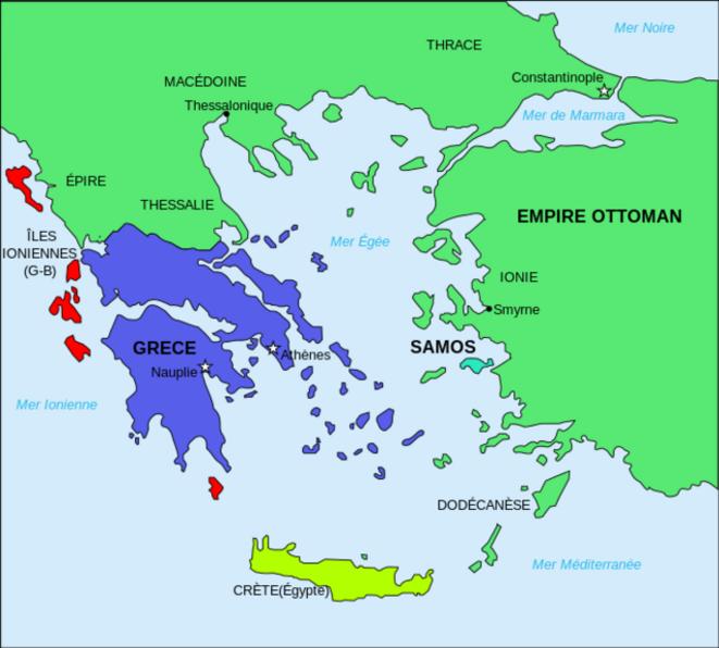 Grèce remaniée en 1832
