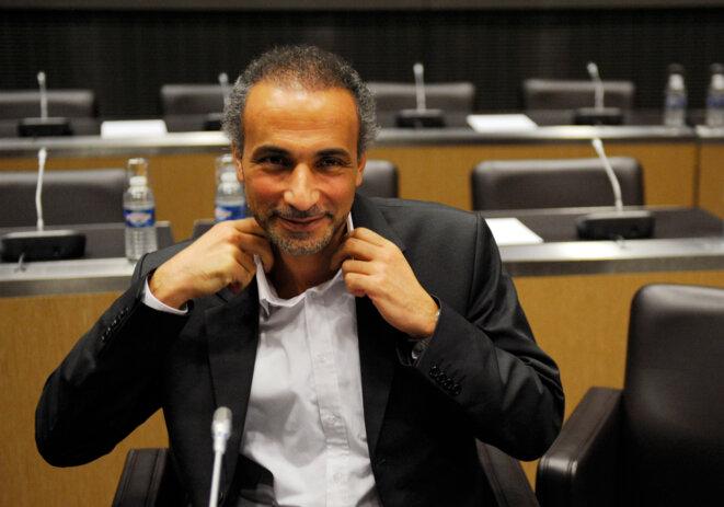 Tariq Ramadan, en décembre 2009, à l'Assemblée nationale. © Reuters