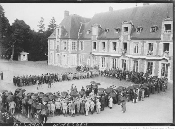 Visite du Président Raymond POINCARÉ à GRIGNON en 1918