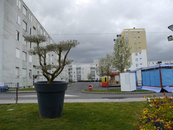 Le centre-ville de Mourenx, première ville nouvelle en France. (JL)