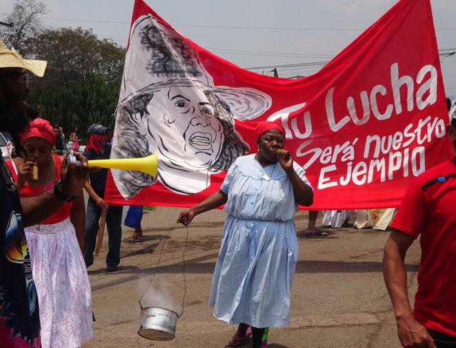 Manifestation pour Berta Cáceres à Tegucigalpa © Kassandra