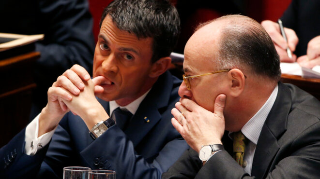Manuel Valls et Bernard Cazeneuve © Reuters