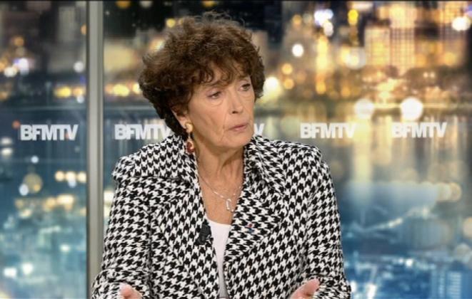 Françoise Rudetzki sur le plateau de BFM TV.
