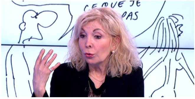 Maryse Wolinski, sur le plateau de France 3.