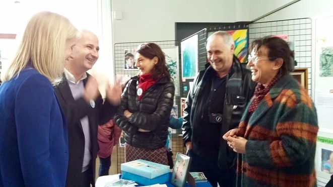 Visite au stand de LaMàO de la Ministre Ségolène Neuville © LaMàO