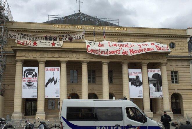 Le théâtre de l'Odéon occupé par des intermittents du spectacle © Kalidou Sy