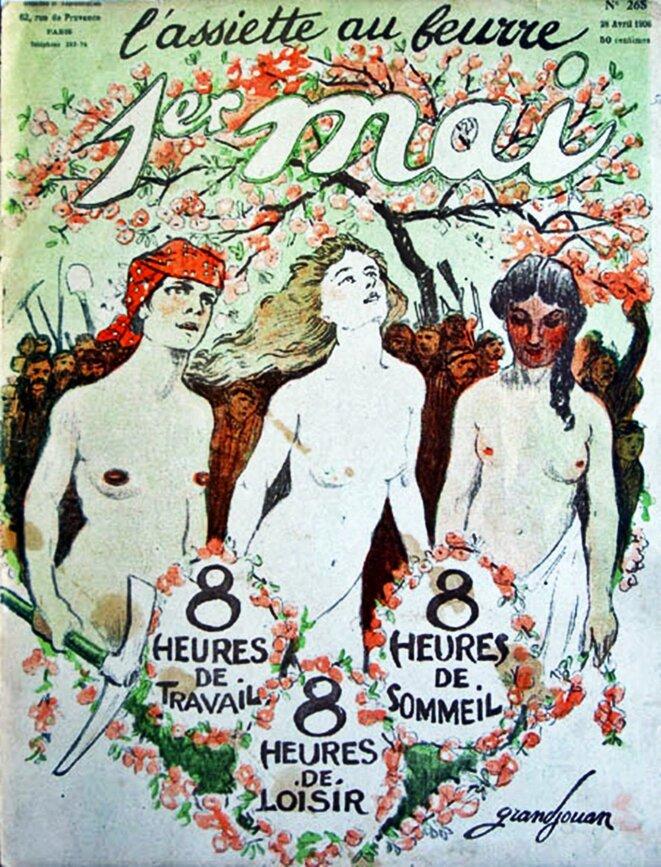 « 1er mai », L'Assiette au beurre, 28/4/1906. © Dessin de Grandjouan