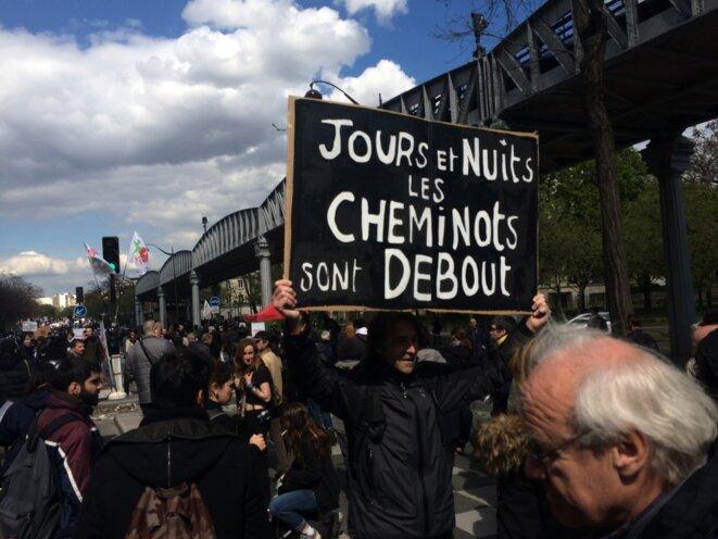 Sur le cortège parisien © Christophe Gueugneau