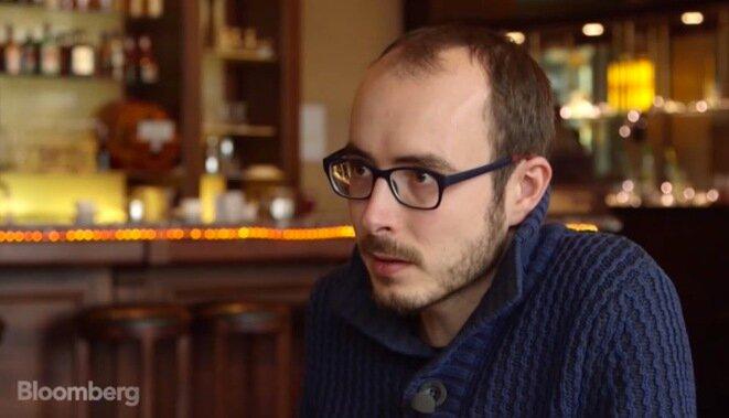 Antoine Deltour entrevistado por Bloomberg TV, en diciembre de 2014. © Bloomberg