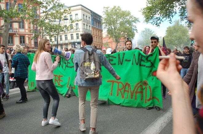 Dans la manif de Toulouse il n'y avait que des jeunes venus manifester © NT
