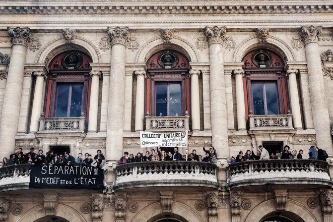 L'Assemblée générale de l'occupation du Théâtre des Célestins de la ville de Lyon. © Henri Granjean