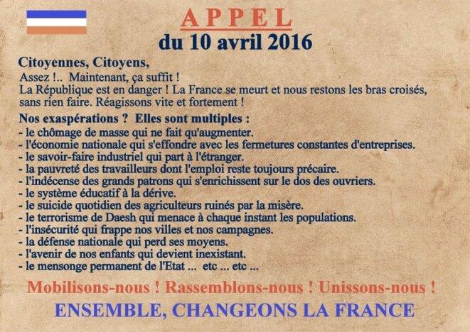 Appel national du 10 avril 2016 © Pierre Reynaud