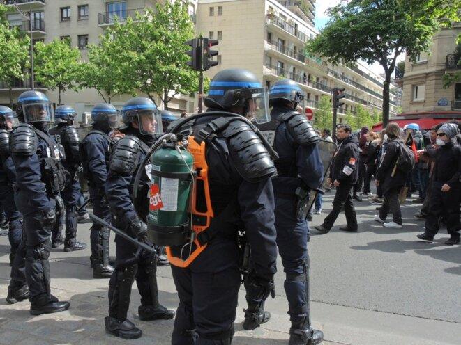 Manifestation du 28 avril 2016 contre la loi travail, Paris © Gilles Walusinski