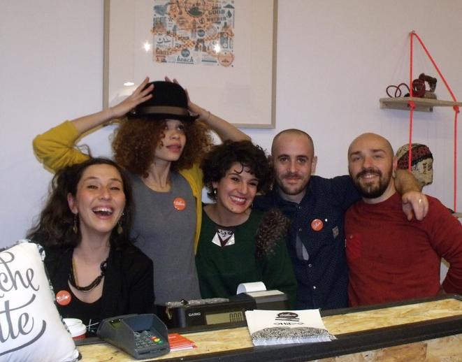 De gauche à droite : Pauline Aubry, Aurore Anaya, Emmanuelle Gastaldi, Antonin Rodet et Guillaume Miard. © Photo : Philippe LEGER