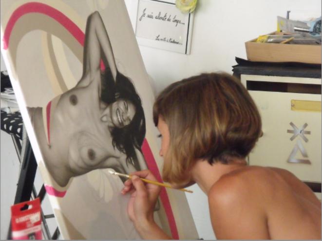 L'artiste designer Frédérique Bauwens du Ghalia Noir (2014) © Photo : Philippe LEGER