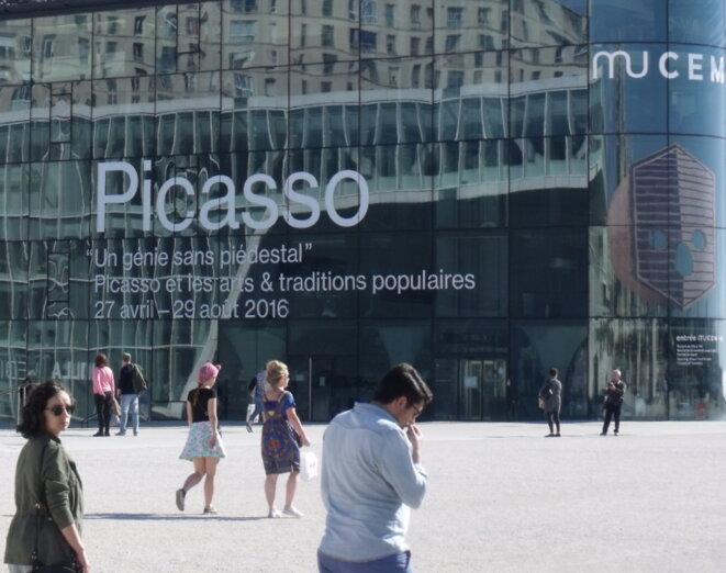 """Picasso, """"un génie sans piédestal"""" au MuCEM jusqu'au 29 août 2016 © Photo : Philippe LEGER"""