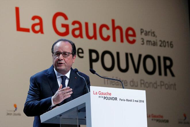 François Hollande mardi 3 mai au colloque « La gauche et le pouvoir » © Reuters