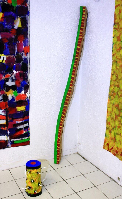 Nouyrit (bois peint, sculpture)