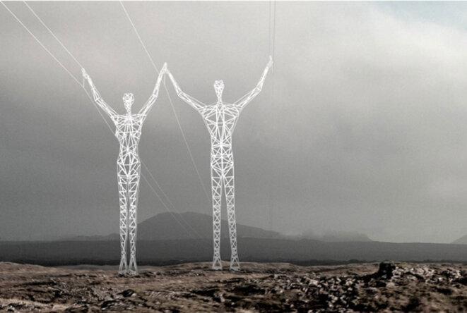 Projet de pylônes pour l'Islande © Shoi-Chine