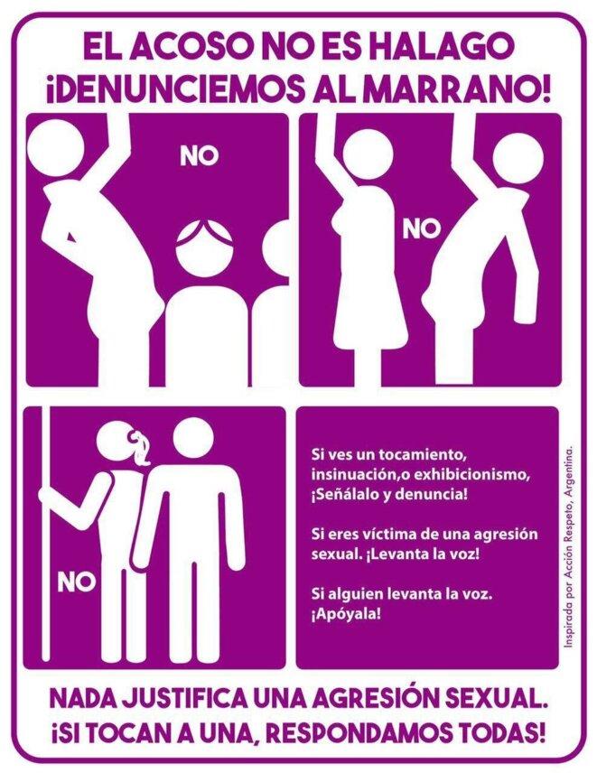 Affiche #24A : « Si vous en touchez une nous répondrons toutes » © Inclusión México @inclusionmex sur twitter
