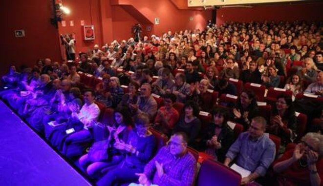 Le Théâtre Maravillas à Madrid a accueilli l'événement pour la liberté de la presse organisé par infoLibre. © infoLibre