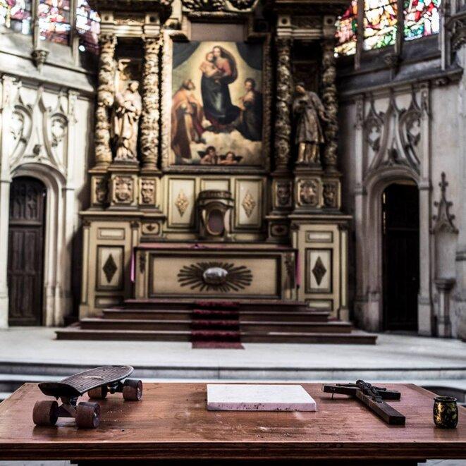 La nouvelle ecclesia Saint-Nicaise © Nuit Debout Rouen