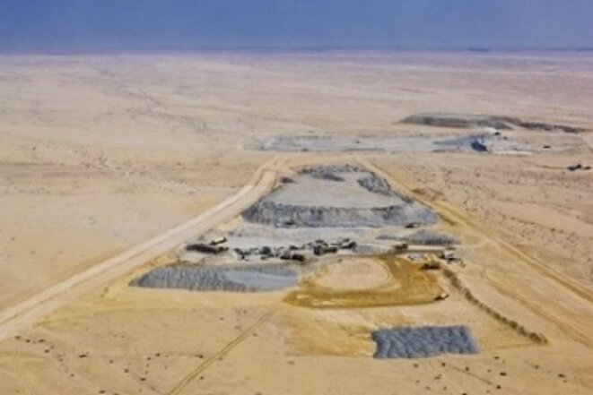 Site de Trekkopje en Namibie. © DR