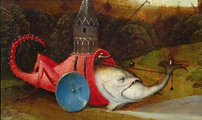 La tentation de Saint-Antoine (détail) © Hieronymus Bosch