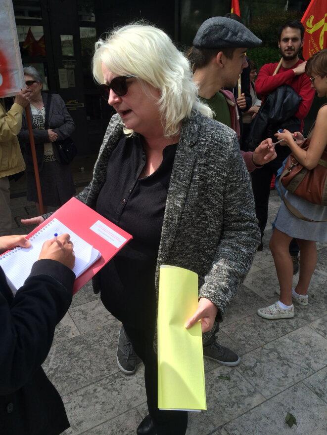Michèle Picard, quelques minutes avant l'audience © MH