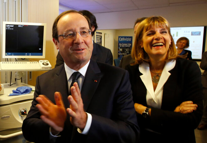 François Hollande et Anne Lauvergeon en décembre 2013. © Reuters