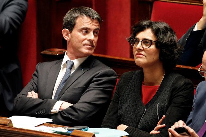 Manuel Valls et Myriam El Khomri à l'Assemblée © Reuters