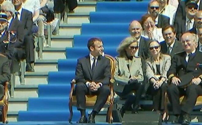 Emmanuel Macron, le 8 mai, à Orléans pour célébrer Jeanne d'Arc.