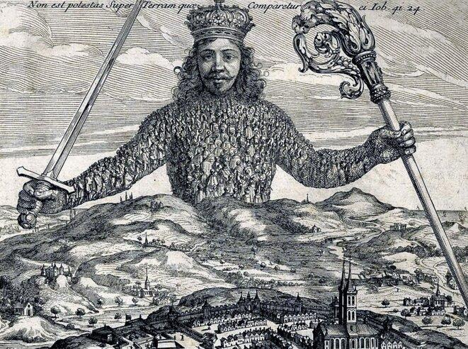 Frontispice du « Leviathan » de Hobbes (1651) par Abraham Bosse