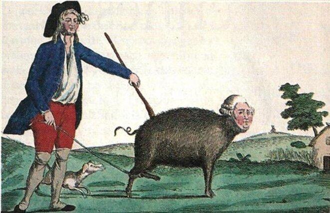 Caricature de Louis XVI