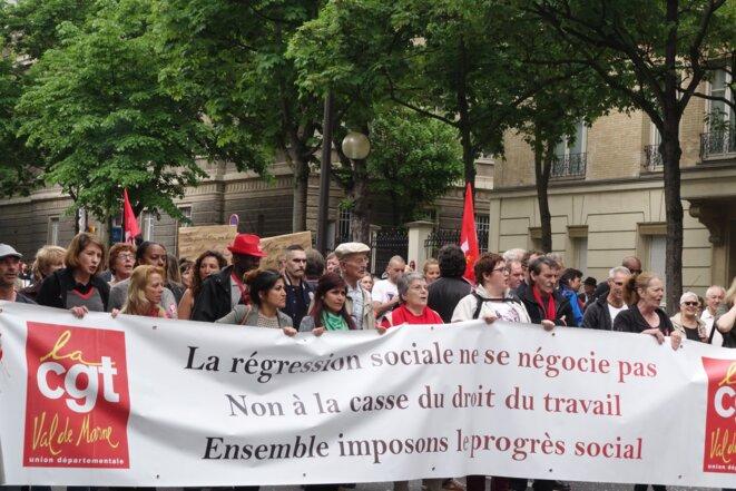 Paris, 12 mai 2016, manifestation contre la loi sur le travail et le 49.3 © Rachida El Azzouzi