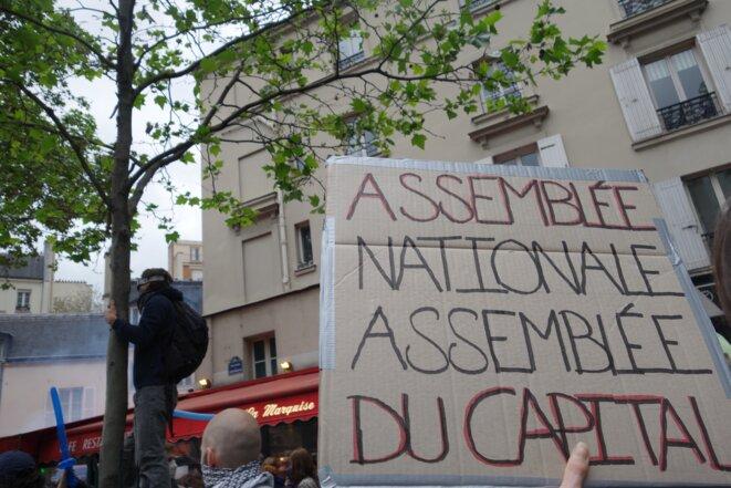 Paris, jeudi 12 mai 2016, manifestation contre la loi sur le travail © Rachida El Azzouzi