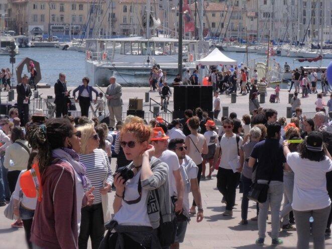Fête de l'Europe 2016 Marseille - scène de la mairie, place de Bargemon. © Philippe LEGER