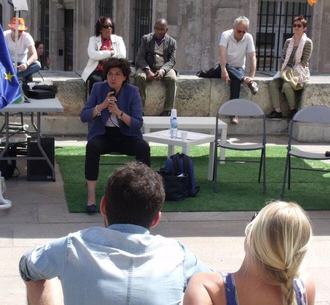 Sylvie Goulard répond aux questions du public © Philippe LEGER