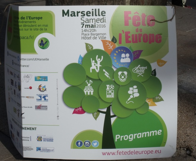 L'affiche de la Fête de l'Europe 2016 à Marseille © Photo : Philippe LEGER