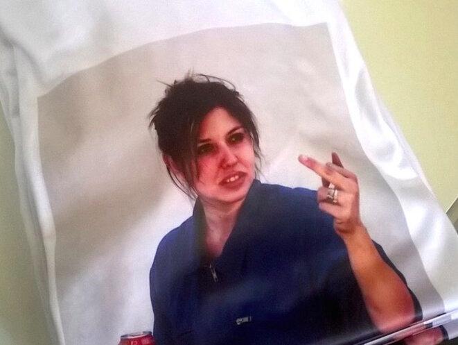 Le t-shirt avec une photo de Patrice Terraz