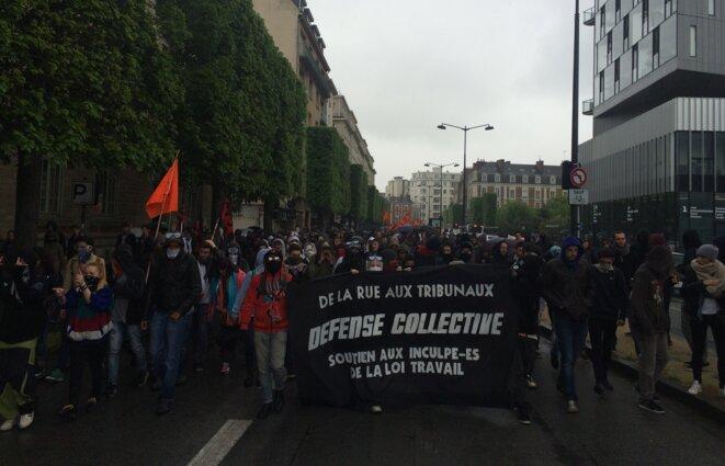 Départ de la manifestation contre la loi Travail jeudi, à Rennes © Kl