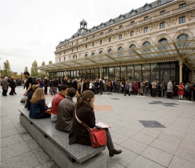 The musée d'Orsay in central Paris.