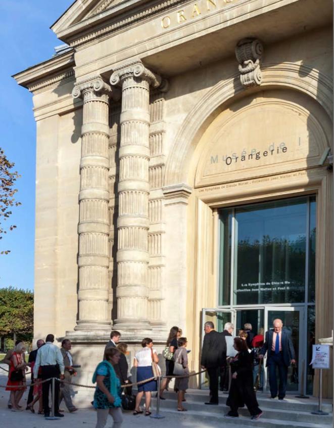 The entrance to the musée de l'Orangerie.