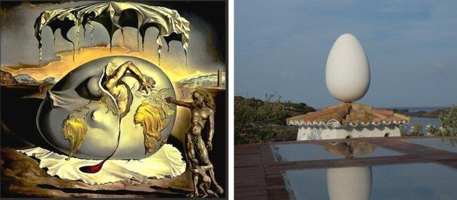 Dali : Enfant géopolitique observant la naissance de l'homme nouveau et Cadaquès : la maison de Salvador Dali [Photo YF]