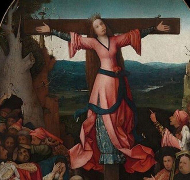 Sainte-Wilgeforte en croix