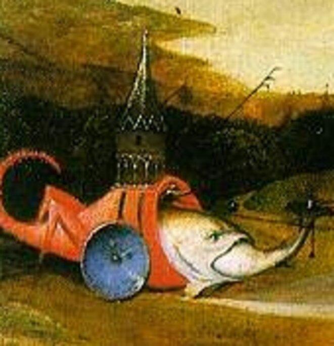 L'Eglise gros poisson, La tentation de Saint-Antoine (détail)
