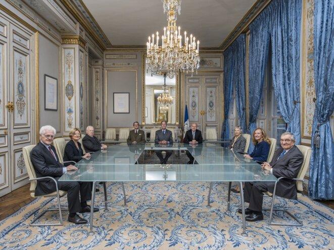 Les membres du Conseil constitutionnel à l'automne 2015, encore sous la présidence de Jean-Louis Debré © Conseil constitutionnel