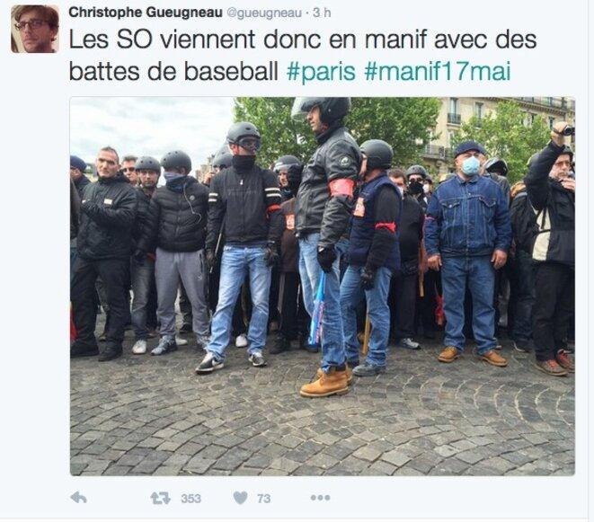 Dans la manifestation parisienne © Christophe Gueugneau
