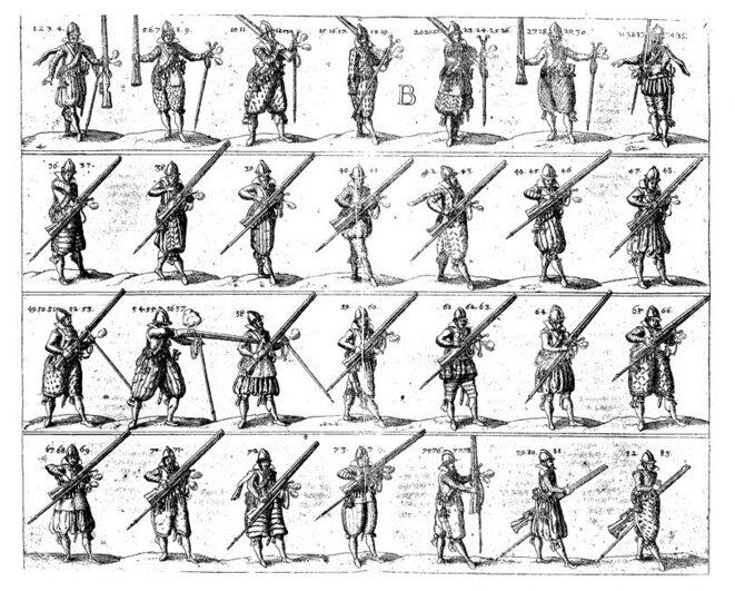 """Dans Johann Wallhausen, """"L'art militaire pour l'infanterie"""", vers 1615"""