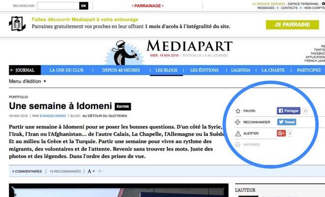 © Service abonnés Mediapart